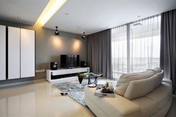 Rèm phòng khách chung cư sang trọng giá rẻ