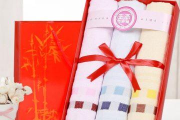 Khăn bông tắm quà tặng cho doanh nghiệp