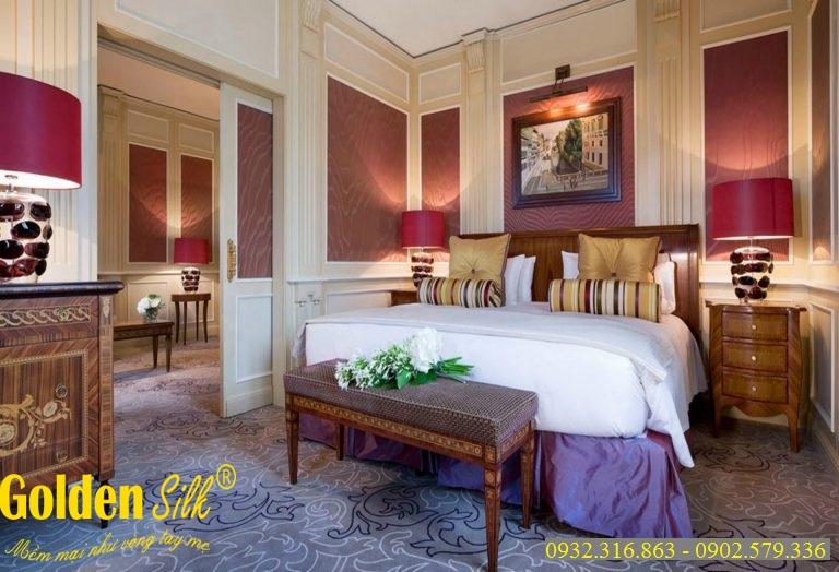 bộ chăn ga gối dùng cho khách sạn cgks 22