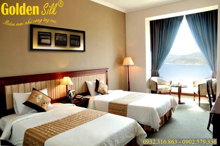 bộ chăn ga gối dùng cho khách sạn cgks 25