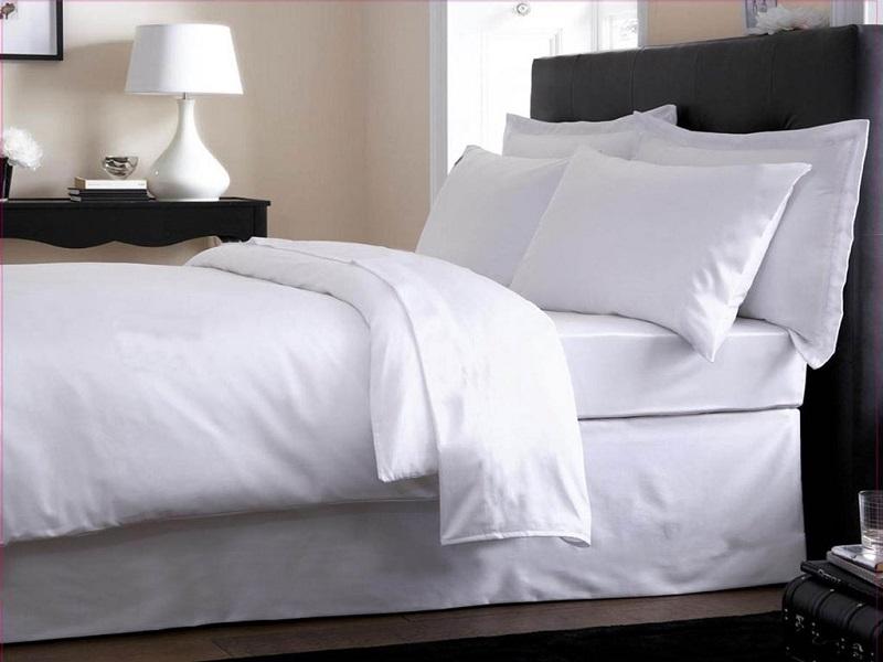 ga trải giường khách sạn