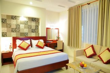 Phòng ngủ nhà nghỉ nhỏ cần mẫu chăn ga gối đệm như thế nào?