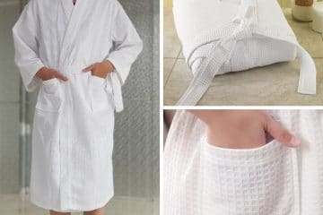 Xem xét chất lượng của áo choàng tắm khách sạn dệt tổ ong