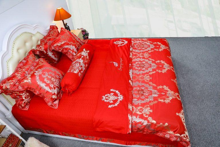 bộ chăn ga gối đệm cưới đẹp
